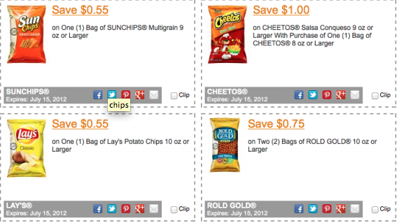 Potato chip coupons