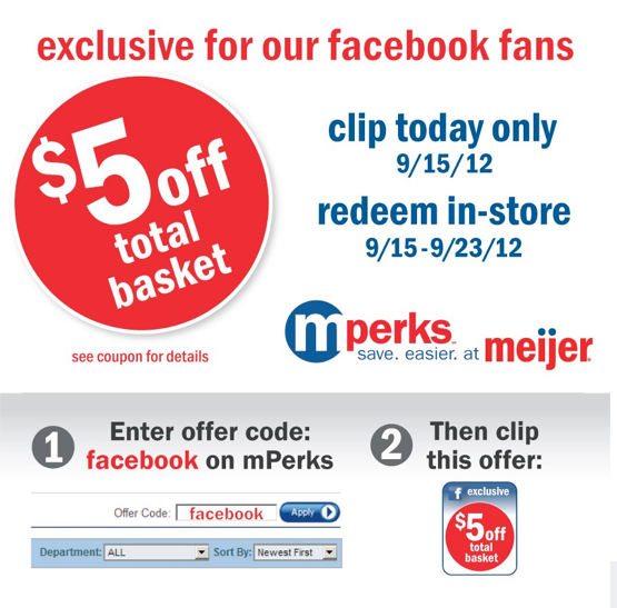 Check this page often, or follow Meijer (hit the follow button up top) to keep updated on their latest discount codes. Check for Meijer's promo code exclusions. Meijer promo codes sometimes have exceptions on certain categories or brands. Look for the blue /5(16).