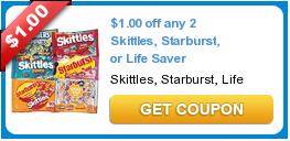 $1.00 off any 2 Skittles, Starburst, or Life Saver