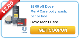 $2.00 off Dove Men+Care body wash, bar or tool