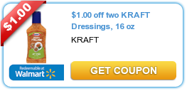 $1.00 off two KRAFT Dressings, 16 oz