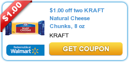 $1.00 off two KRAFT Natural Cheese Chunks, 8 oz