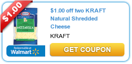 $1.00 off two KRAFT Natural Shredded Cheese