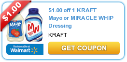$1.00 off 1 KRAFT Mayo or MIRACLE WHIP Dressing