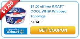 $1.00 off two KRAFT COOL WHIP Whipped Toppings