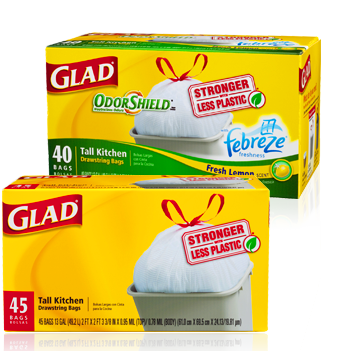 image regarding Glad Trash Bags Printable Coupon known as Contented Trash Luggage Simply $1.50 At Loved ones Greenback