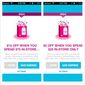 Old Navy Snap appy coupons