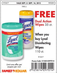 Cheap Lysol wipes ar Family Dollar