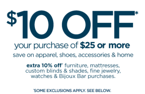 JC Penney $10 Off $25 Purchase Coupon In-Store