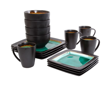 Hometrends Ocean Oasis 16-Piece Dinnerware Set Turquoise Only $29 At Walmart  sc 1 st  Couponing With GregThatDude & Hometrends Ocean Oasis 16-Piece Dinnerware Set Turquoise Only $29 ...