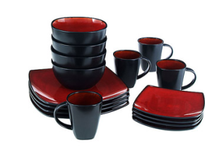 Soho Lounge Square 16-Piece Dinnerware Set