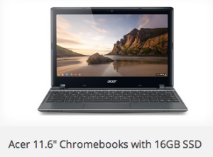 "cer 11.6"" Chromebook with a 16GB SSD"