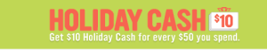 Radio Shack Holiday cash