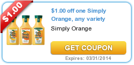 $1.00 off one Simply Orange, any variety