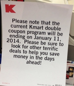 Kmart Stops Double Coupons