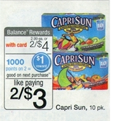 $1.50/2 Capri Sun Coupon = Only $0.75 At Walgreens Starting 1/19