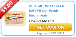 $1.00 off TWO OSCAR MAYER Deli Fresh lunch meats