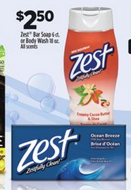 Zest Body wash only $0.50 at DollarGeneral