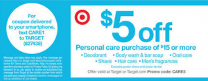 Target $5 off $15 beauty coupon