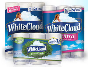 White Cloud Bathroom tissue