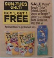 FREE purina busy bone dog treats at dollar general