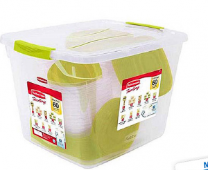 Rubbermaid 60-Piece Plastic TakeAlongs Set