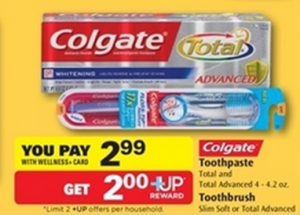 free Colgate toothpaste at rite Aid