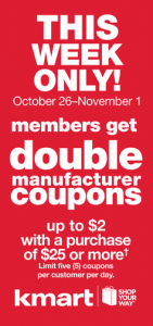 Kmart Super Doubles 10/26 - 11/1