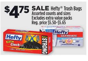 Hefty Trash Bags $3.75 at Dollar General