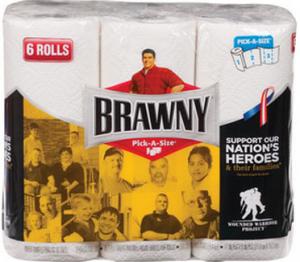 brawny 6 roll paper towel