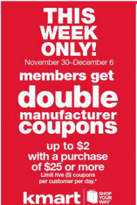 Kmart Double Coupons