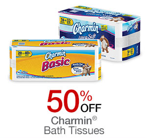 Charmin Bath tissues 50% off