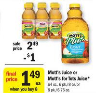Mott's Juice $0.49 at Meijer