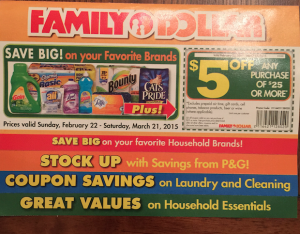 Family coupon booklet