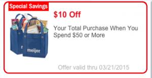 Meijer $10 Off $50