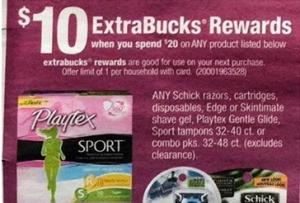 Playtex Spend $20 Get $10