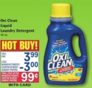 Oxy Clean Laundry Detergent ONLY $0.99 at Rite Aid