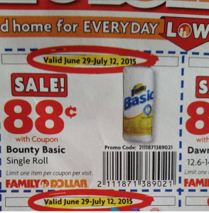Bounty Basic Family Dollar