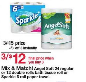 Kmart: Starting 7/26 - More Cheap Angel Soft Bath Tissue And Sparkle Paper Towel- Double Coupon Week