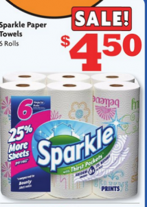 Family Dollar: Sparkle Paper Towel 6 Roll Package ONLY $3.50