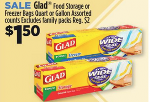 Coupons for glad freezer bags