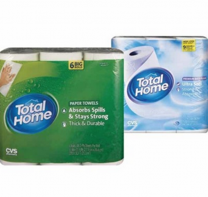 Total Home paper towel bath tissue