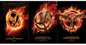 The Hunger Games, Catching Fire, & Mockingjay Part 1