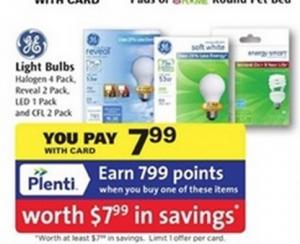 Rite Aid: FREE GE Light Bulbs + $1 Money Maker