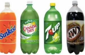 Sunkist, 7up, Canada Dry, 7p 2 liter