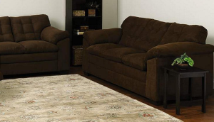 Simmons Upholstery Brown Griffin 3-Cushion Contemporary Sofa