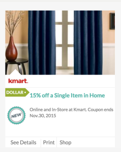 Kmart 15 off home item