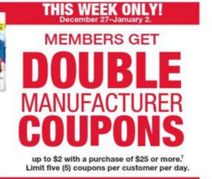 Kmart double coupon week