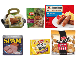 Jennie-O, Tyson, Jimmy Dean, Totinos Pizza Rolls, Spam, & Hormel Coupons