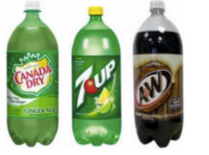 Canada dry, 7up, a&w